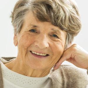 smiling elderly woman